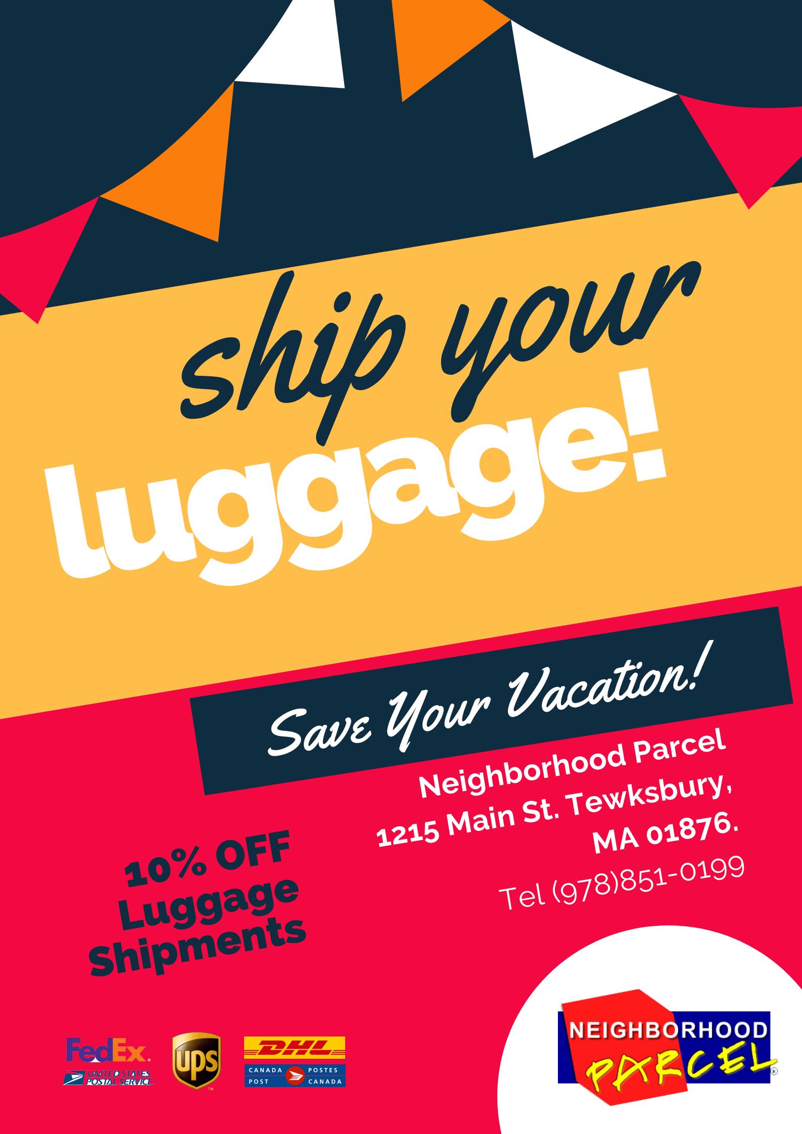 Luggage shipping service company Near Boston MA