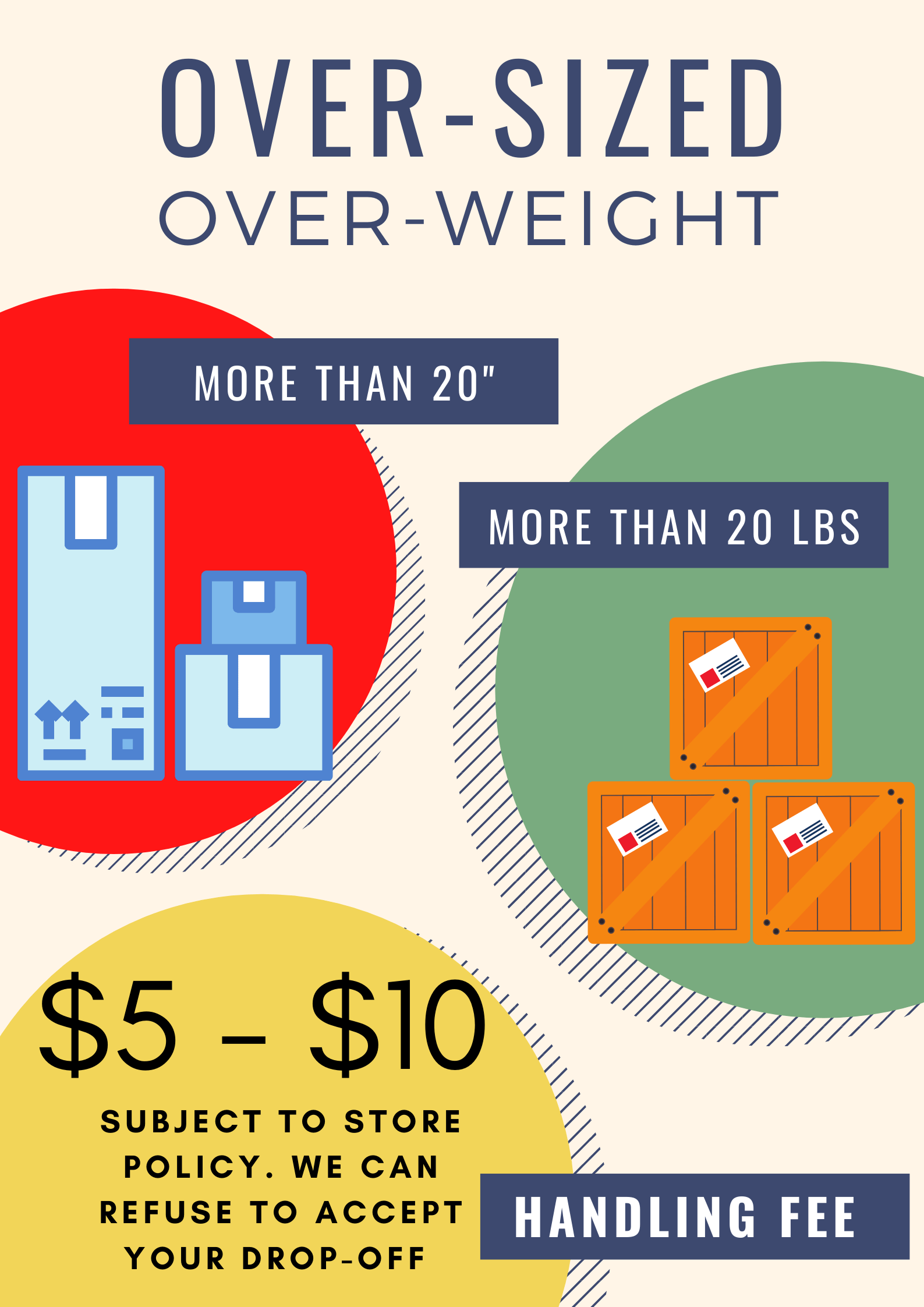 over-size drop-offs
